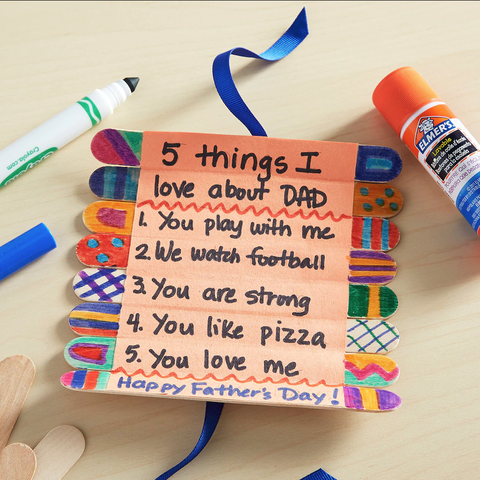 father's day crafts preschool father's day craft stick roll up card