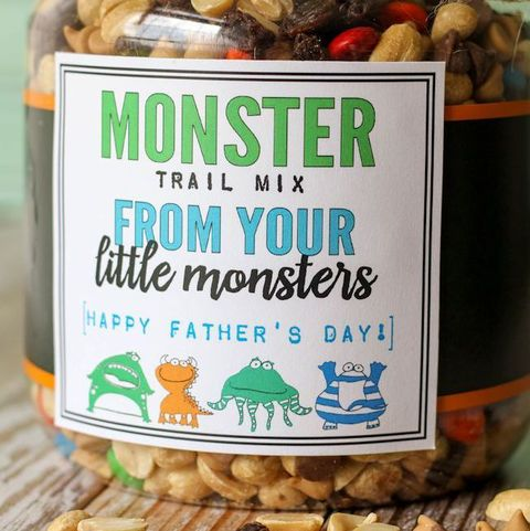 father's day crafts preschool lil lunamonster trail mix