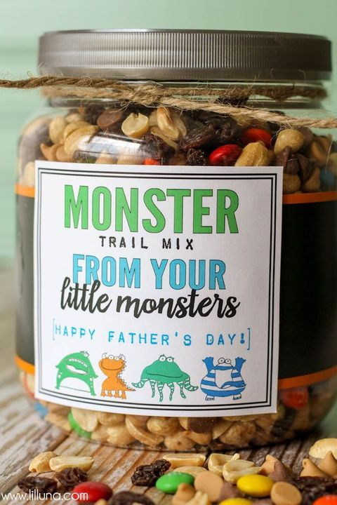 Father's Day Crafts Preschool - Lil Luna Monster Trail Mix