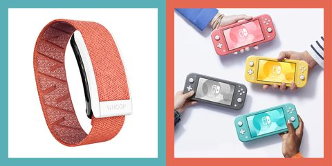 whoop fitness tracker and nintendo switch lite