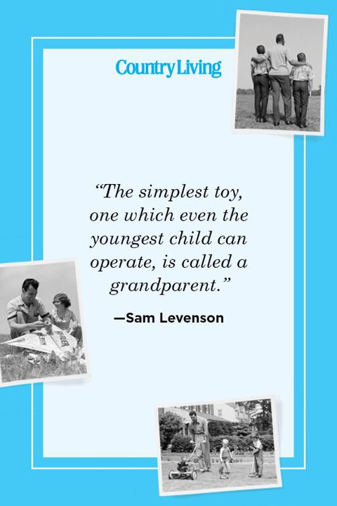 """""""the simplest toy,  one which even the  youngest child can  operate, is called a  grandparent"""" —sam levenson"""