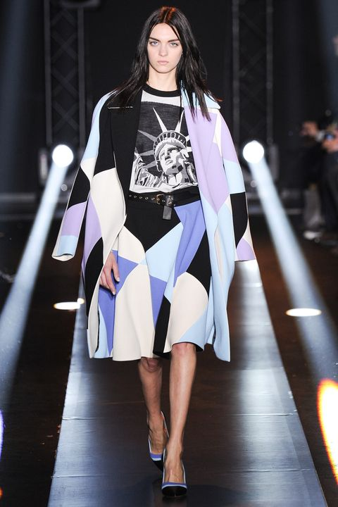 Lady Liberty made a few cameos in Fausto Puglisi's Fall 2014 ready-to-wear line
