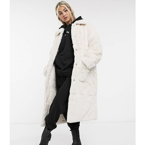 faux fur panter jas