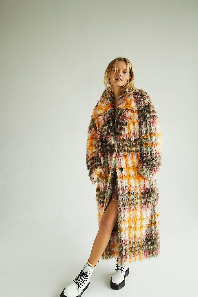25 Best Faux Fur Coats 2020 Fashion, White Long Line Faux Fur Zebra Print Coat
