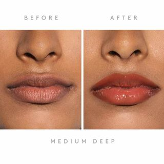 fenty beauty plumping lip gloss before and after