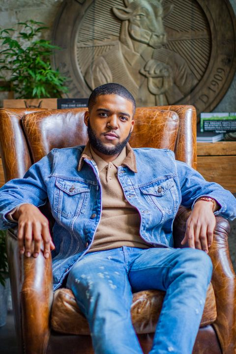 Blue, Jeans, Sitting, Denim, Cool, Furniture, Fun, Muscle, Photography, Photo shoot,