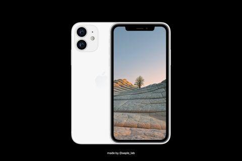 黑色的背景前有白色的iphone