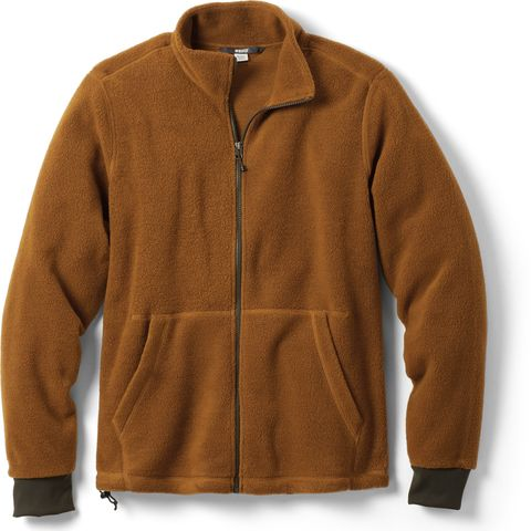 Clothing, Outerwear, Jacket, Sleeve, Tan, Brown, Polar fleece, Collar, Textile, Beige,