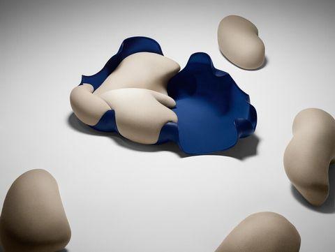 lv藍白色的拆卸沙發