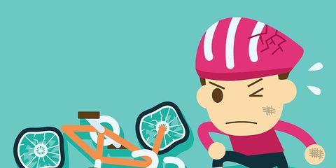 fear of crashing on a bike