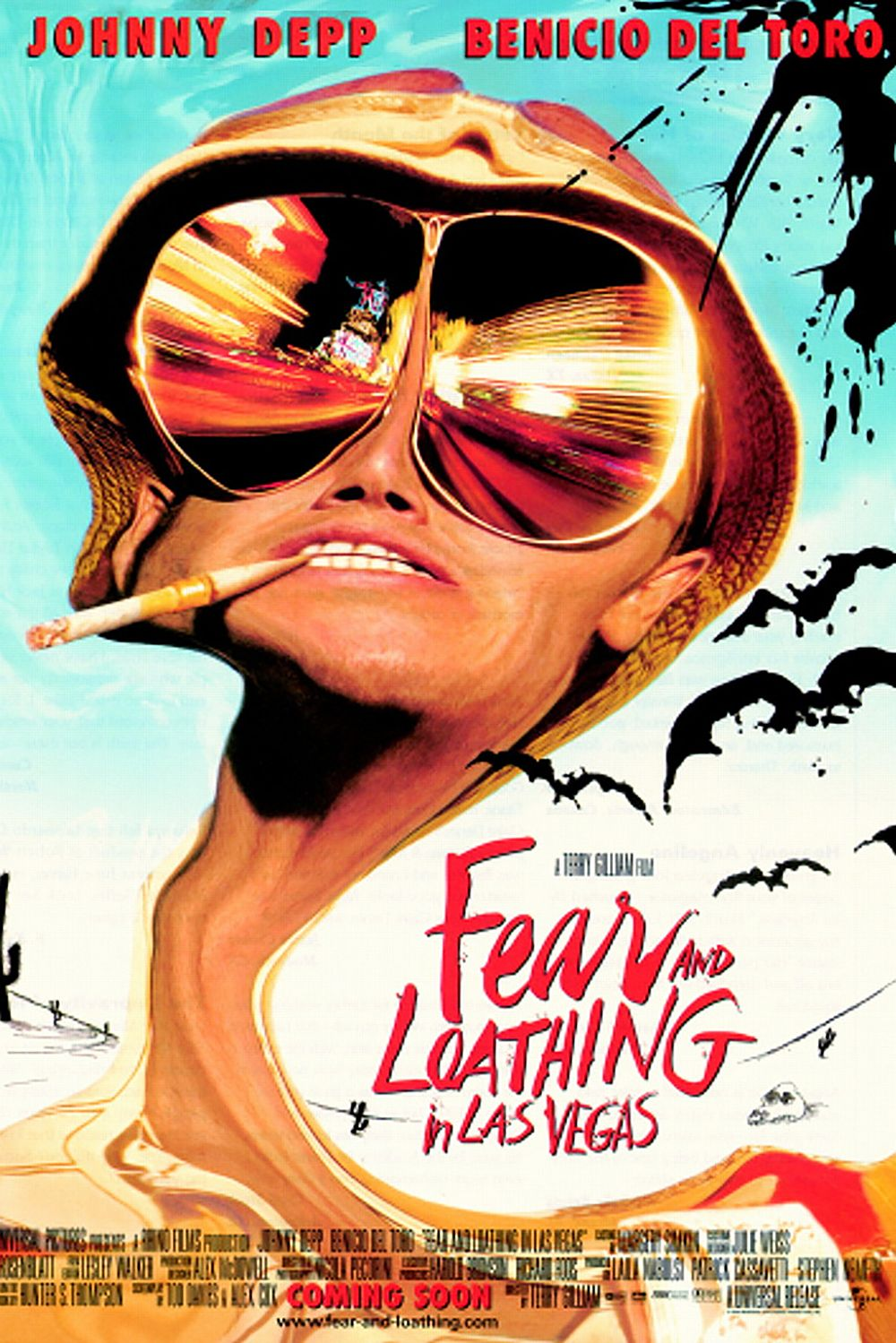 Fear and Loathing in Las Vegas (1998) The film, adapted from Hunter S. Thompson's novel of the same name, failed both critically and financially at first, but has recently amassed a cult following. The story follows Raoul Duke (Johnny Depp) and Dr. Gonzo (Benicio del Toro) on a journalistic assignment that ends up being an exploration of Las Vegas under the influence of hallucinogenic drugs and copious other substances.