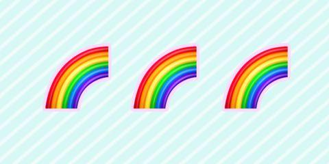 Line, Rainbow, Pattern, Design, Meteorological phenomenon, Graphic design, Font, Circle, Colorfulness, Graphics,