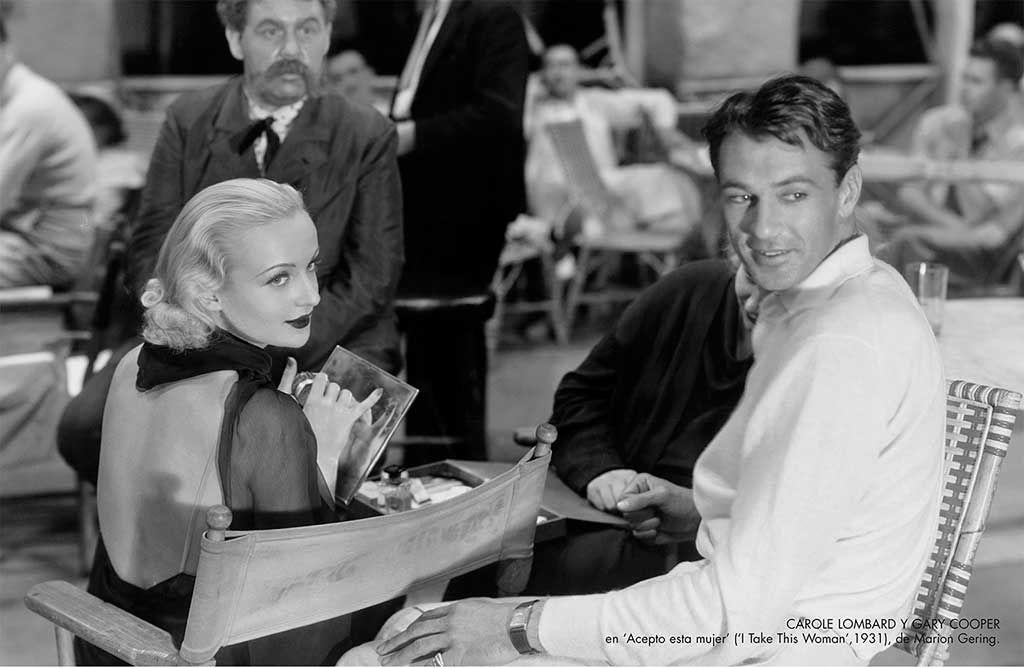 """Carole Lombard y Gary Cooper en """"Acepto esta mujer"""""""