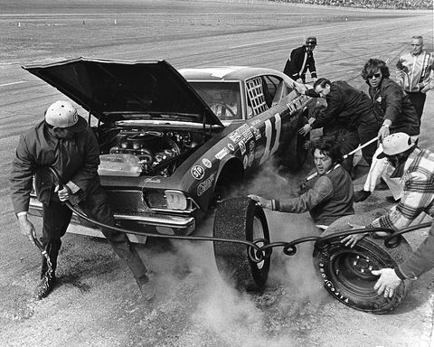 jack ingram 1973 daytona pit stop