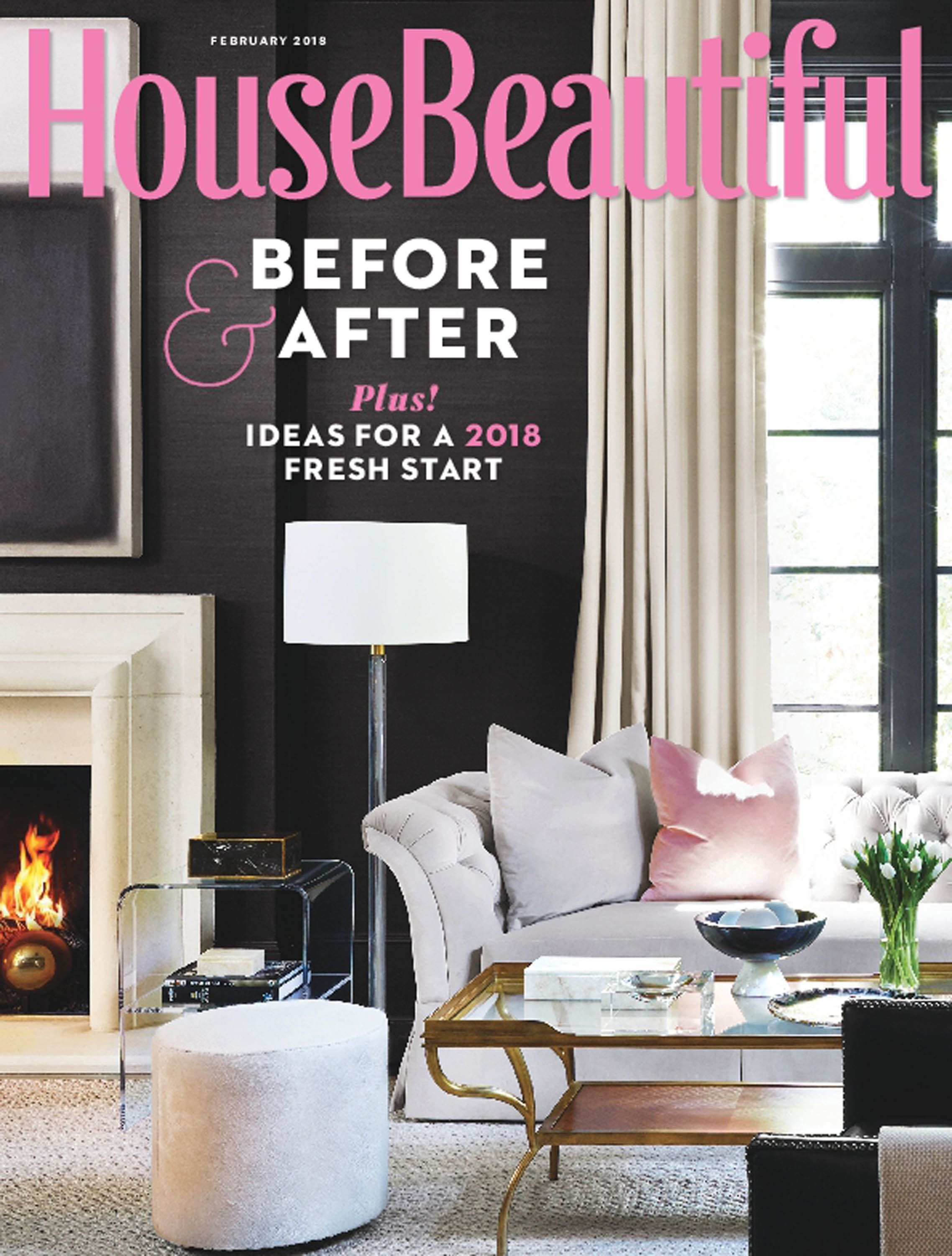 House Beautiful February 2018 Cover