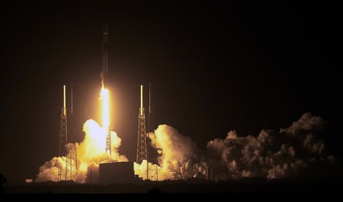 SpaceX Launches Satellites And Lunar Lander