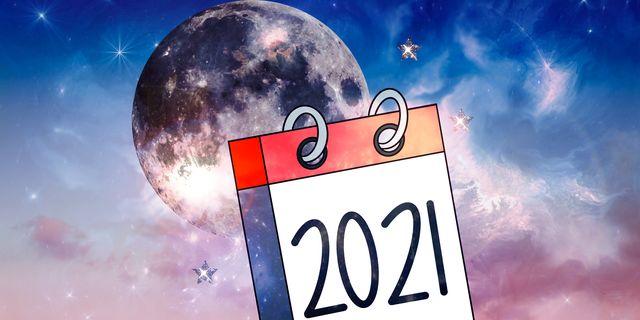 calendario con luna