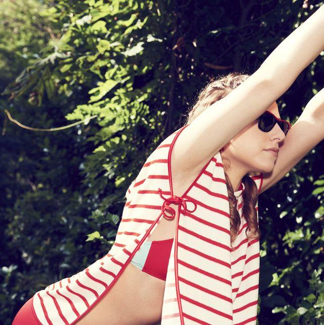 Clothing, Human leg, Thigh, Leg, Beauty, Summer, Flag of the united states, Bikini, Swimsuit bottom, Swimwear,