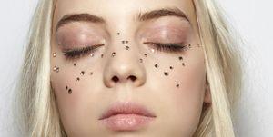 feest make-up strass bling