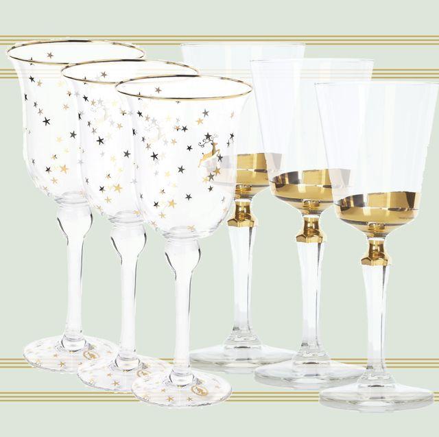 Feestelijke wijnglazen