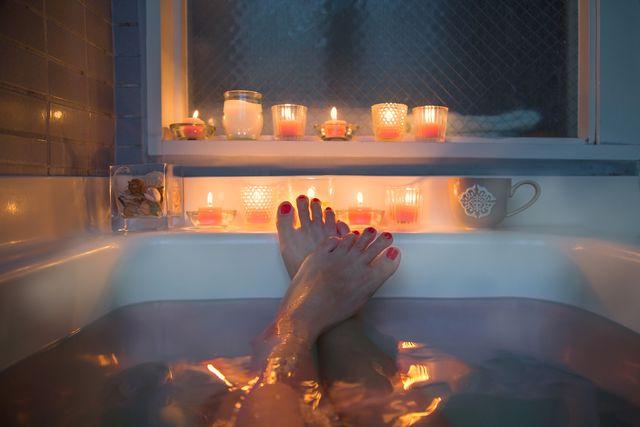 feet in bath