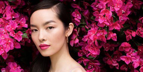 Pink, Face, Lip, Beauty, Petal, Skin, Cheek, Flower, Purple, Magenta,