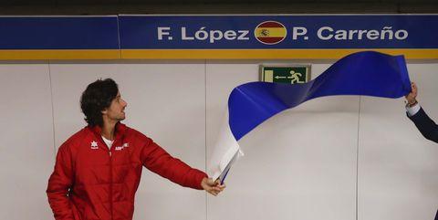 Feliciano López y su parada de metro