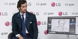 Feliciano Lopez Presents LG Gram In Madrid