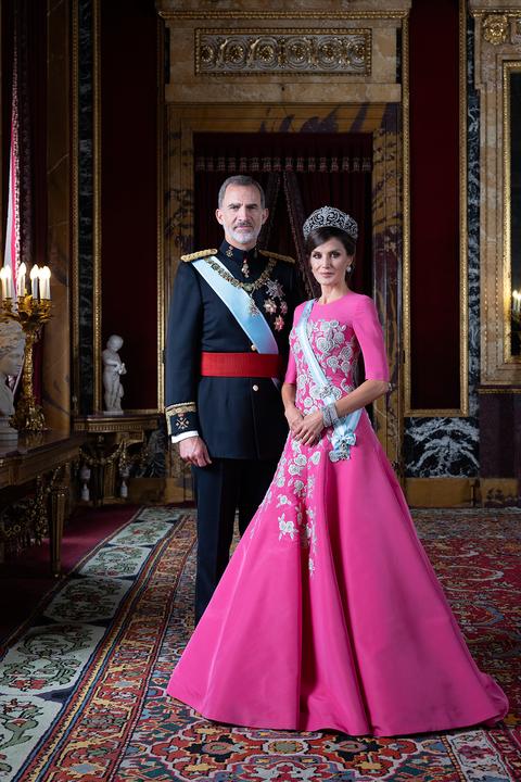 Felipe y Letizia, posado oficial de gala en 2020