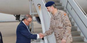 El rey Felipe VI celebra su 51 cumpleaños con las tropas españolas en Irak