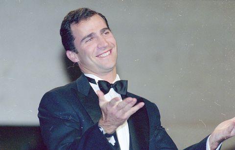 El príncipe Felipe en 2000, en los Premios Goya.