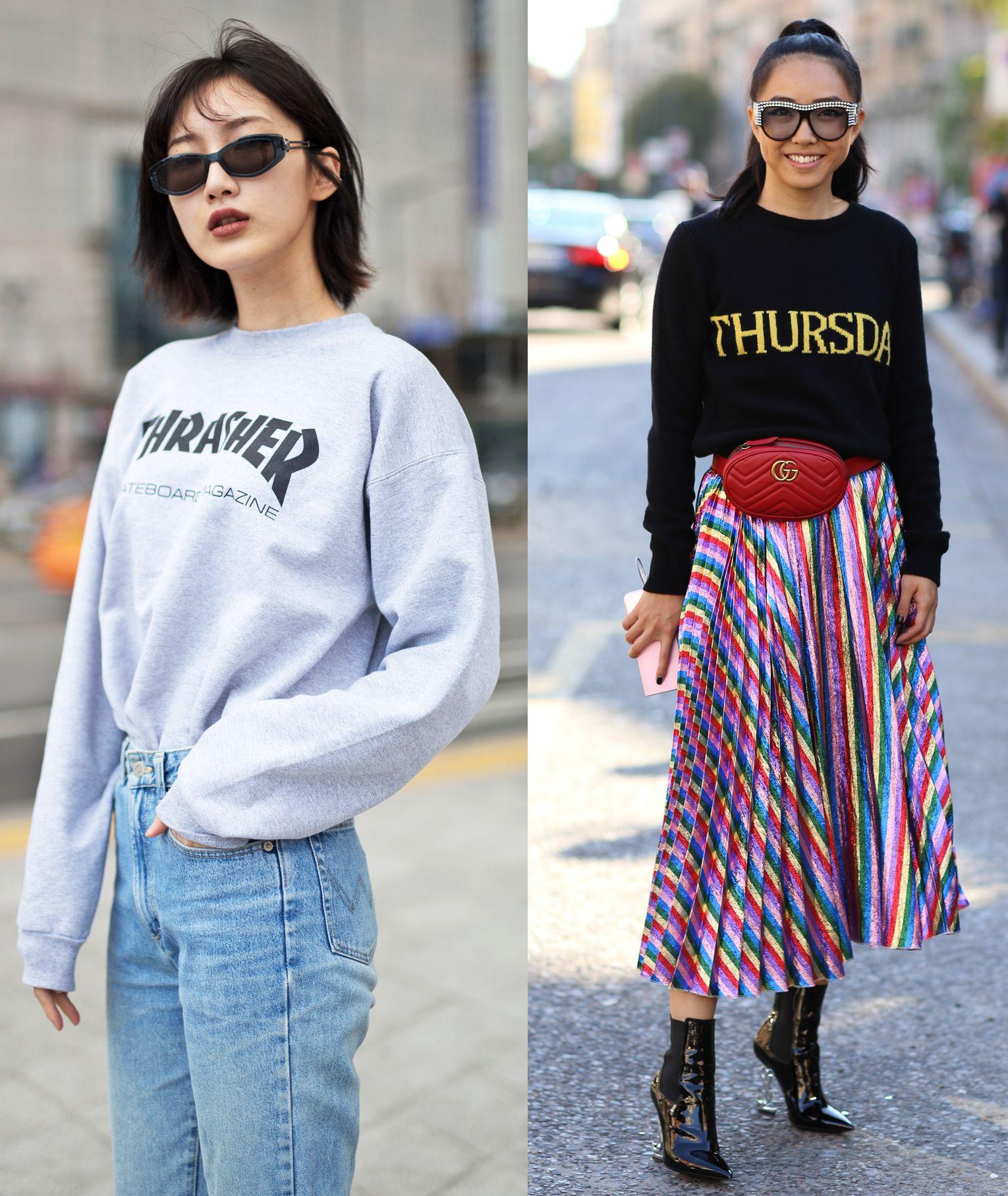 Le Outfit 9 7bv1wbwnyq Estate 2018 Donna Per Moda Abbinare Felpe 6qR56w0