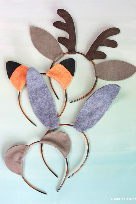 baby animal ears headband diy halloween costume for kids