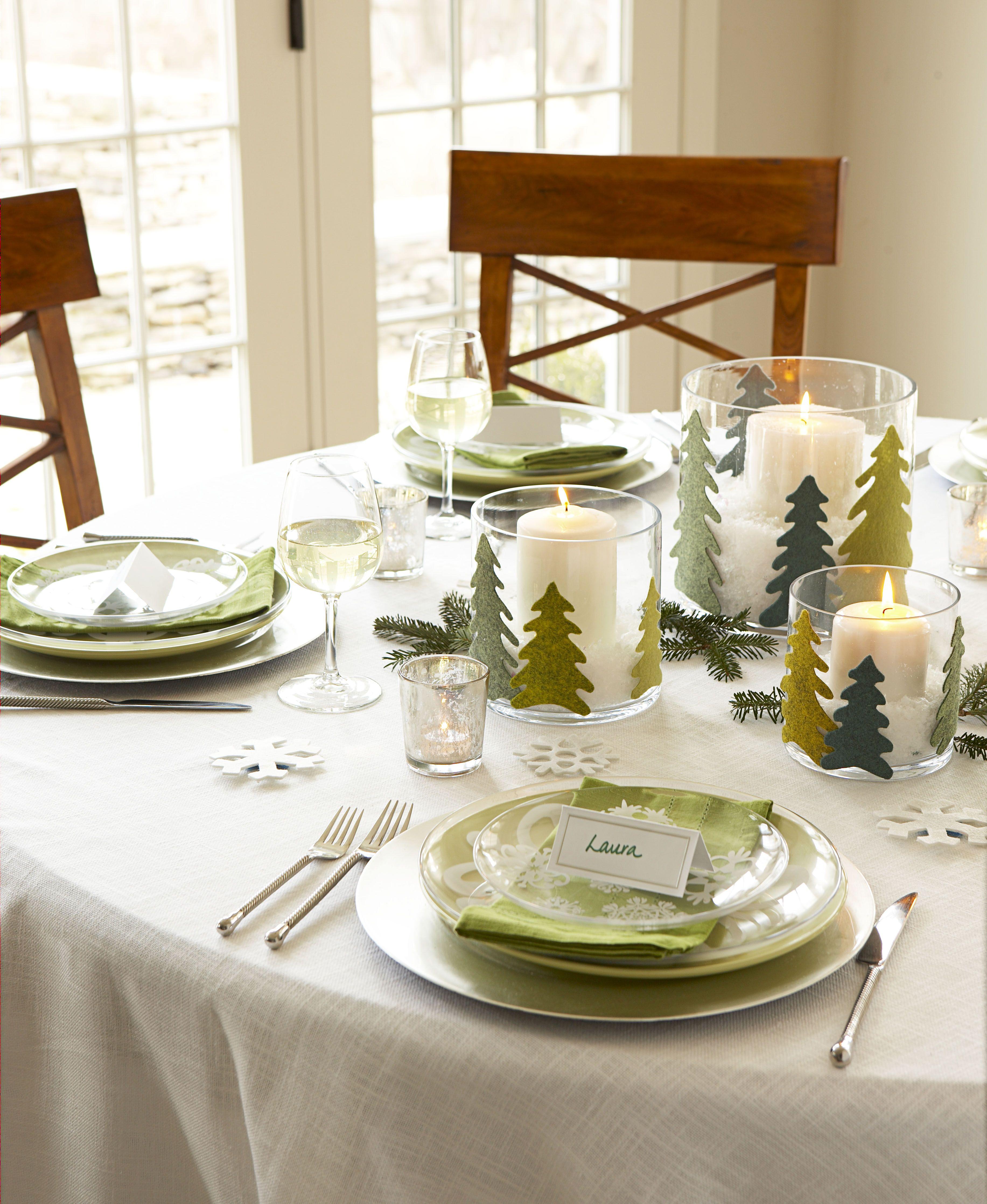 40 diy christmas table decorations and settings centerpiecesfelt pine tree christmas centerpiece