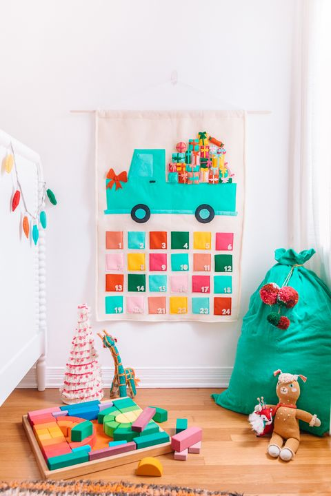 felt truck advent calendar diy advent calendars