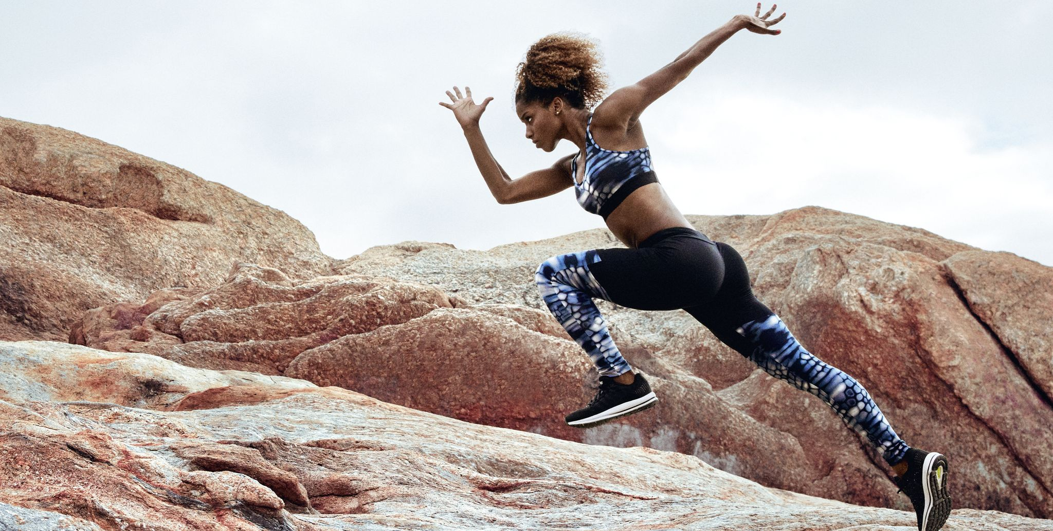 Female athlete running in nature