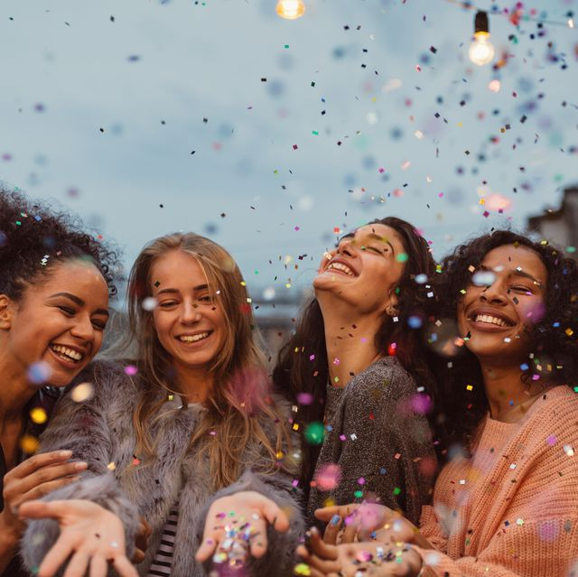 female friends enjoying at party