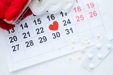 female monthly cycle calendar pills pain treatment