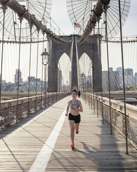 Female runner in New York