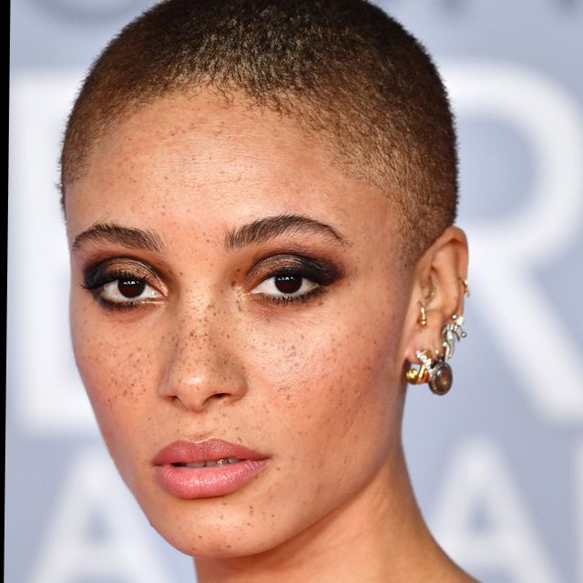 female celebrity shaved head