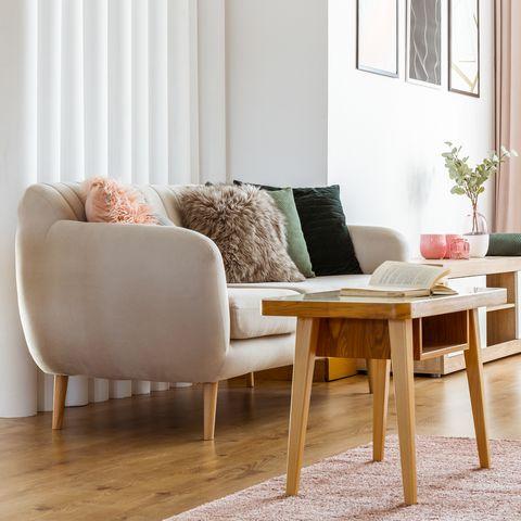feminine living room interior