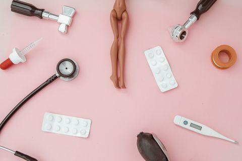 feminine sexual diseases concept
