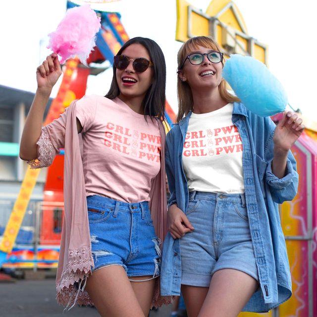 girl power tshirts at carnival