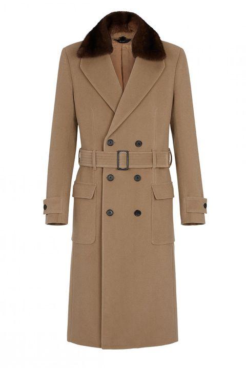 FENDI 男版修身墊肩訂製大衣,NT. 205,000