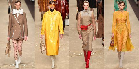 Fashion model, Fashion, Clothing, Yellow, Fashion design, Runway, Fashion show, Haute couture, Fashion designer,