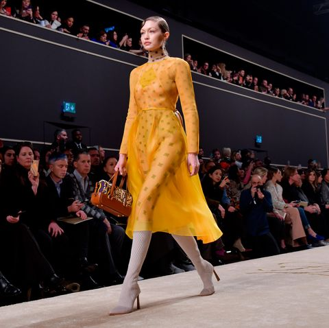 baa152de4c4f Karl Lagerfeld's final collection for Fendi is shown in Milan ...