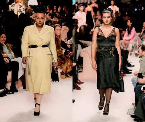 Fashion model, Fashion, Runway, Fashion show, Event, Haute couture, Dress, Fashion design, Public event, Style,
