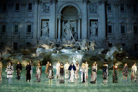 fendi's show in rome
