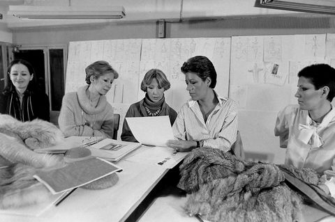 1977 fendi sisters alda paola franca carla and in their atelier