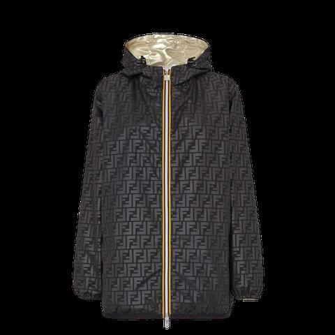 fendi與法國機能品牌k way限時聯名防風外套